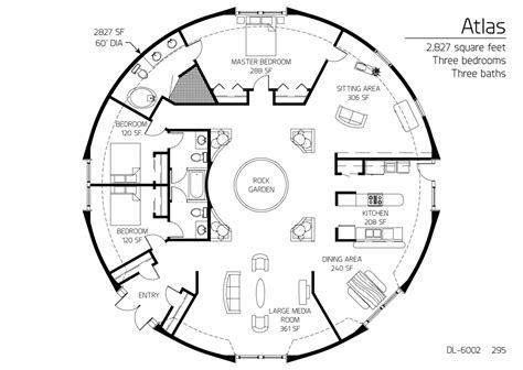 dome homes plans floor plan dl 6002 monolithic dome institute