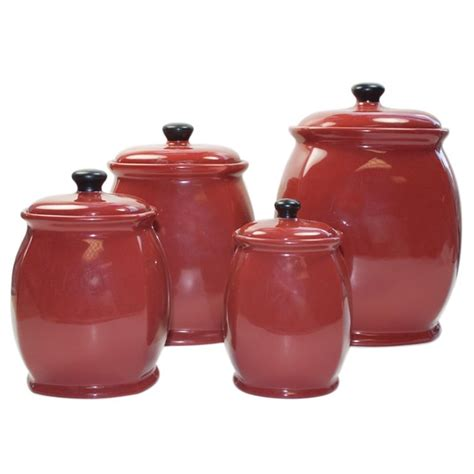 Green Kitchen Canister Set by Red Canister Set For Kitchen Kenangorgun Com