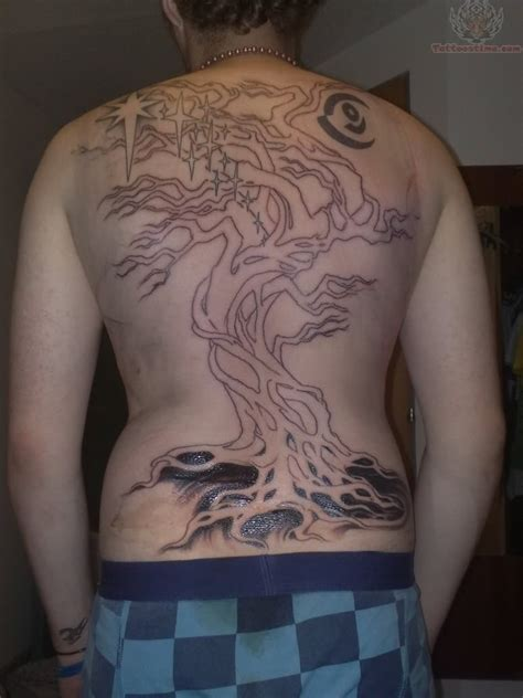 tree tattoo on back back tree tattoos