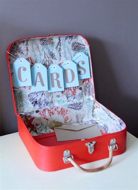 Wedding Box How To Make by Make A Wedding Card Box From A Suitcase Mod Podge Rocks
