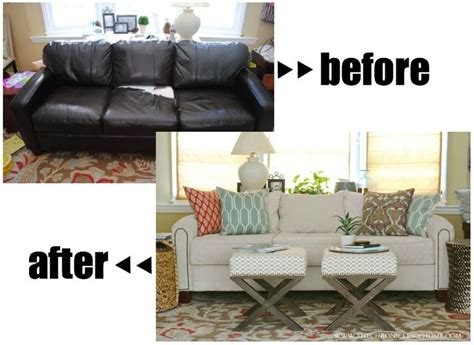 reupholster leather sofa 25 best ideas about makeover on sofa