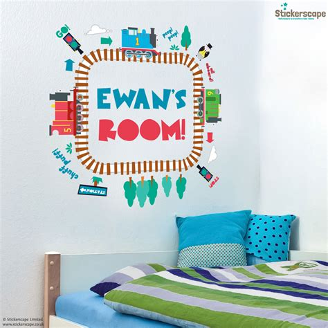 personalised wall sticker personalised track loop and friends wall stickers