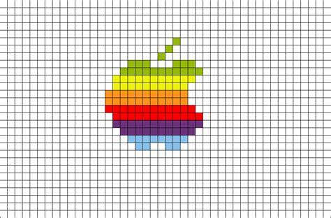 pixel apple rainbow brik