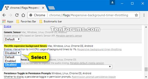 Enable or Disable Google Chrome Background Tab Throttling