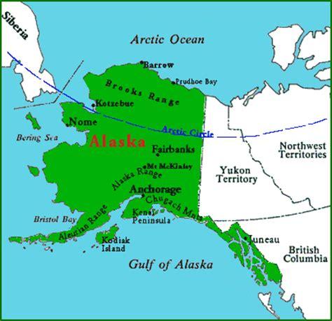 map of usa showing alaska location mt mckinley