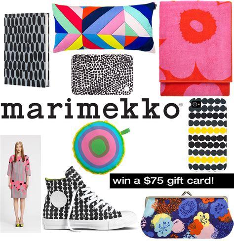 The View Giveaway - marimekko 75 gift card giveaway design milk