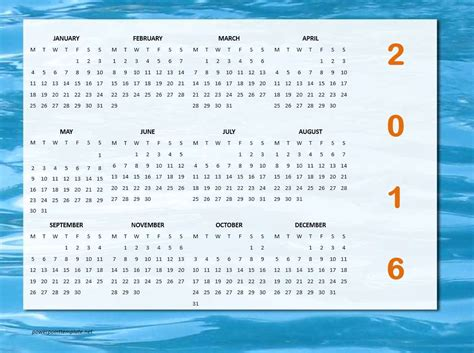 2016 calendar template open office calendar template 2016