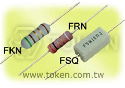 resistor type fuse thin wirewound cement fusible resistors frn fkn fsq token components