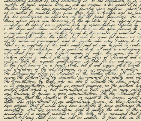 Hamilton Essay by Federalist Paper 68 Hamilton 42 Quot Wide Fabric Johanna Mead Spoonflower