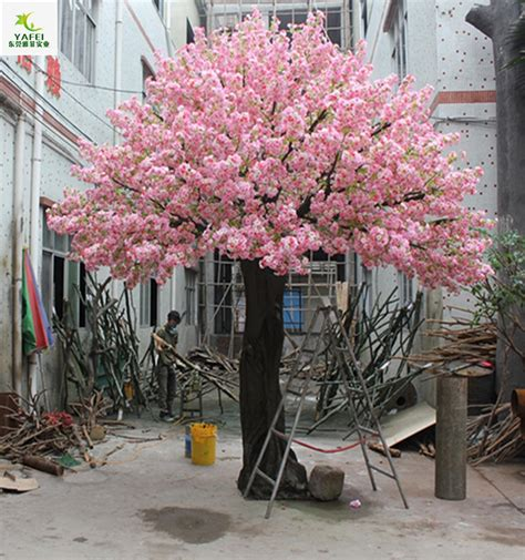yafei new artificial pink indoor cherry blossom trees