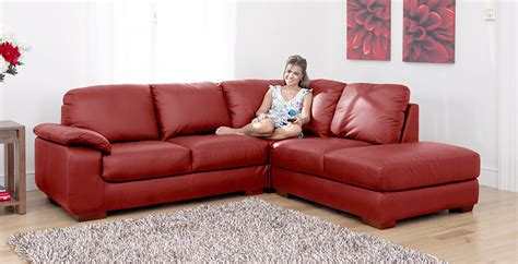 red corner sofa siena red leather corner sofa group right rhf ebay