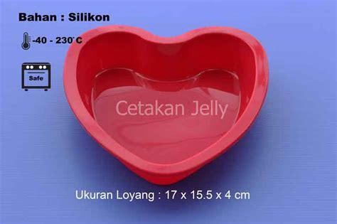 Cetakan Puding 5 cetakan silikon kue puding hati 17x15 5 cm pan