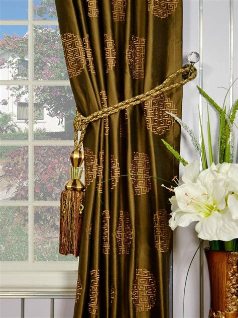 silk embroidered curtains halo embroidered chinese inspired tab top dupioni silk