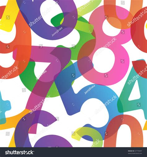 pattern for numbers in html seamless pattern made transparent colorful numbers stock