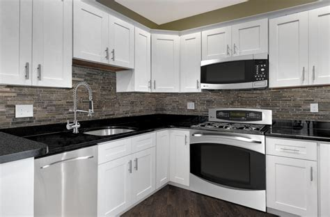 solid wood white shaker kitchen cabinets mf cabinets