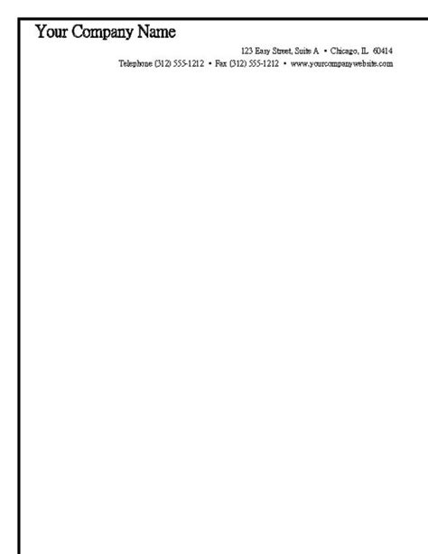 free business letterhead templates printable best photos of free print letterhead templates free