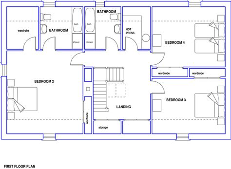 home blueprint blueprint plan modern house