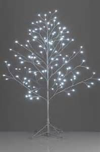 white lights on tree white led twig tree more production