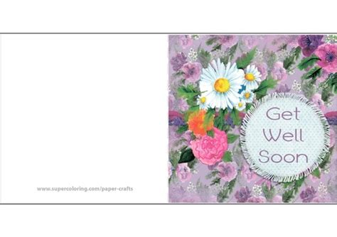Free Template Get Well Card by Get Well Soon Customize Sided Standard Business