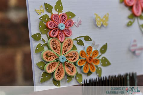 card with quilling quilled flower card and quilling comb 3birds studio