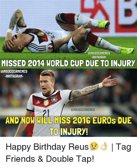 Sports Injury Meme - iamsoccermemes instagram missed 2014 world cup due to