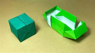 One Paper Origami - origami gift box with one of paper