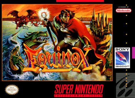 play equinox nintendo super nes online   play retro games