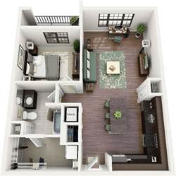 Small Apartment Floor Plans One Bedroom 50 One 1 Bedroom Apartment House Plans Bedroom Floor