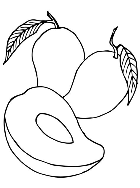 mango coloring pages preschool mango coloring pages 3