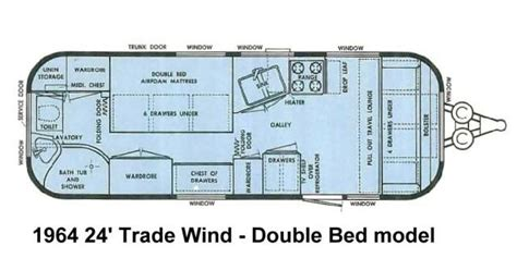airstream floor plans 24 trade wind double bed airstream pinterest trade