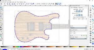 Guitar Design Template by Guitar Design In Inkscape Software Project Electric Guitar