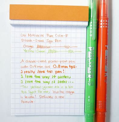 Pen Paper Daimaru Sided a penchant for paper uni mitsubishi color f sided sign pen