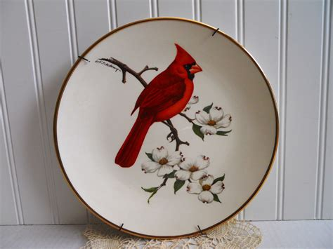avon collectible plate cardinal home decor wall hanging
