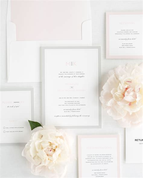 shine wedding invitations pink and gray wedding invitations wedding invitations by shine