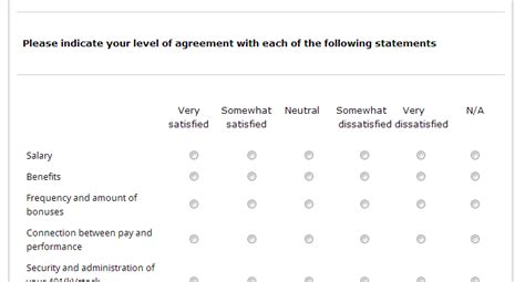 template highlight employee satisfaction survey
