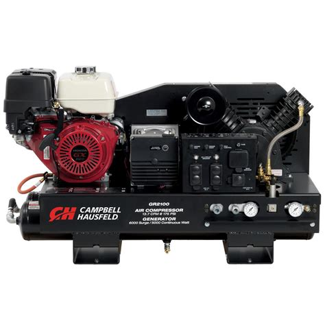 cbell hausfeld air compressor welder combination unit 10 gal stationary gas honda gx390