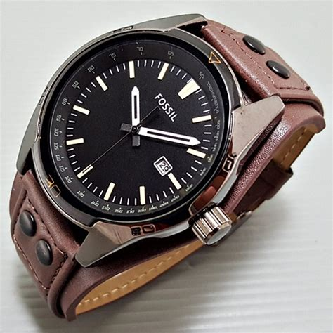 Jam Tangan Leather Brown Azb10115 1 jual jam tangan fossil leather brown cowok