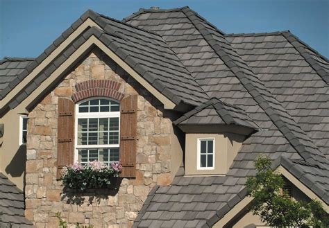 Eagle Roof Tile Eagle Roof Belair 4595 Charcoal Traditional Exterior