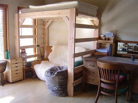 Lofting A Bed by How To Build A Loft Bed Stroovi