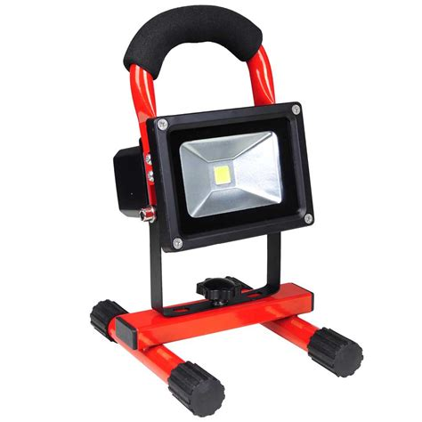 flood it work light 10w portable cordless work light rechargeable led flood