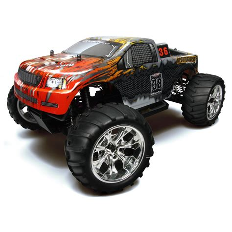 hsp nitro monster truck hsp 94111 88043 silver rc monster truck at hobby warehouse