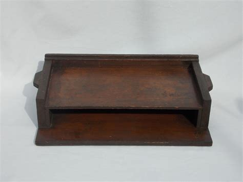 Antique Desk Organizer Vintage Handcrafted Wood Desk Organizer From Retromonica On Ruby
