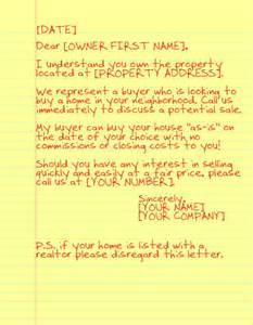 sending yellow letters as a realtor