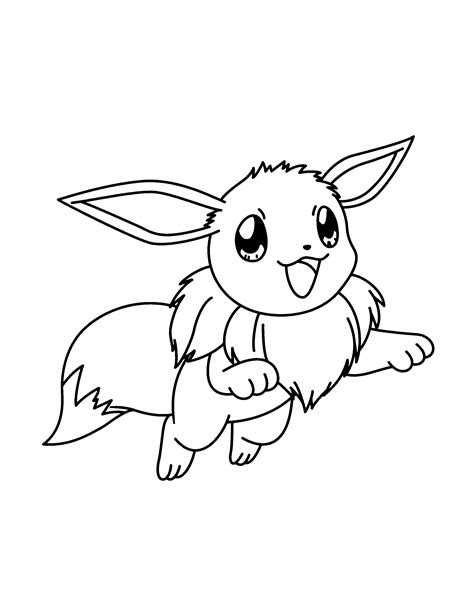 Eevee And Pikachu Coloring Pages Coloring Pages Eevee Coloring Pages