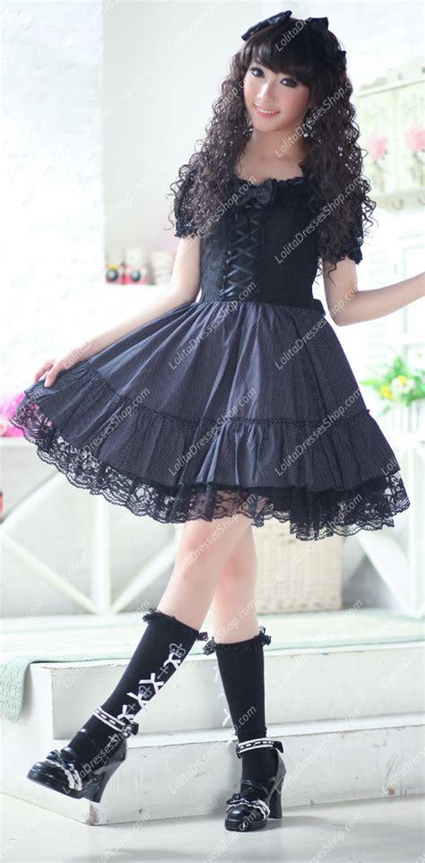 Best Seller Costumes Kostum Natal Slc 13 cheap plain black lace flouncing princess dress sale at dresses