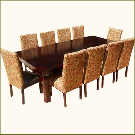 dining room sets for 10 people matterhorn 11 pc leather high back formal dining room set