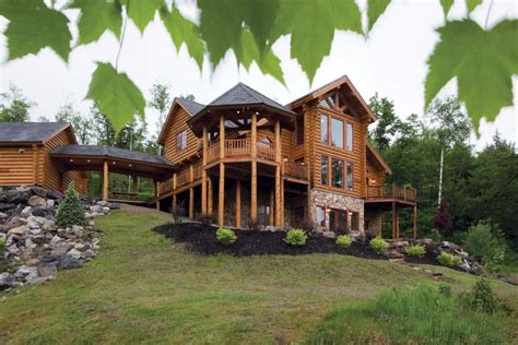 sunday river maine log home precisioncraft