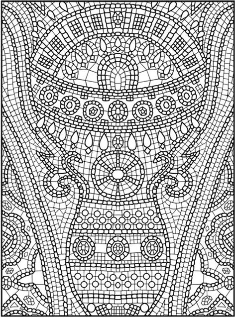 free coloring pages of roman mosaic free