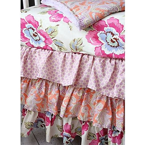 caden lane crib bedding caden lane 174 primrose ruffle crib bedding collection buybuy baby