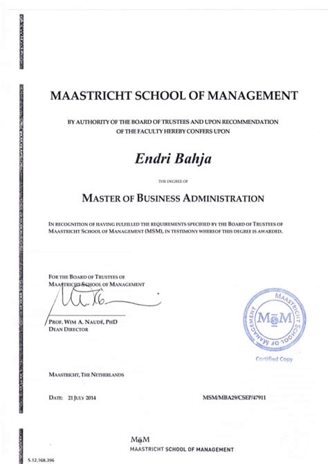 Mba Or Msm by Mba Degree Endri Bahja